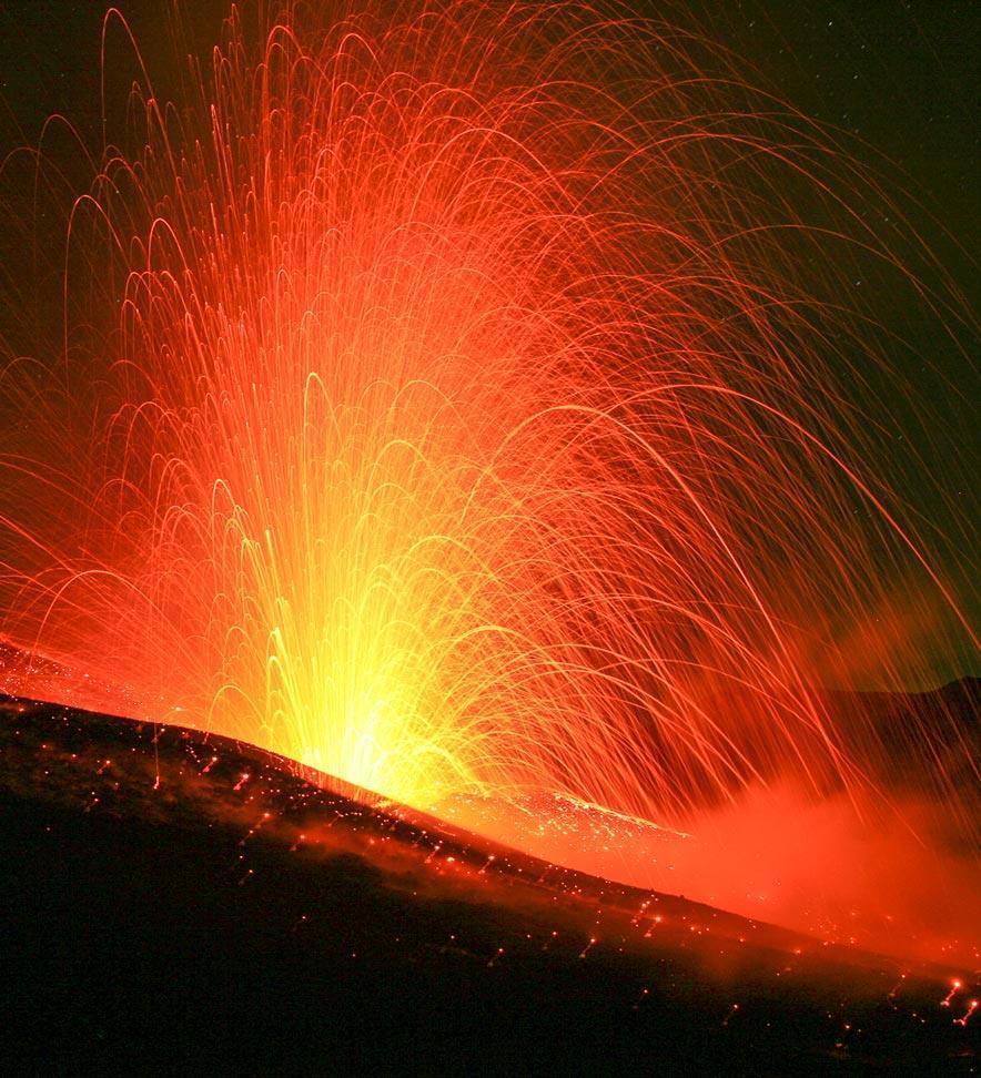 Parco dell'Etna - Eruzione cratere NCNE